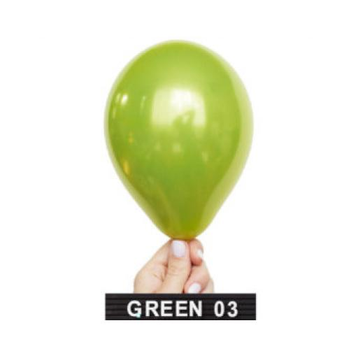 Met Apple Green 12 inch Latex Balloon 50 pcs