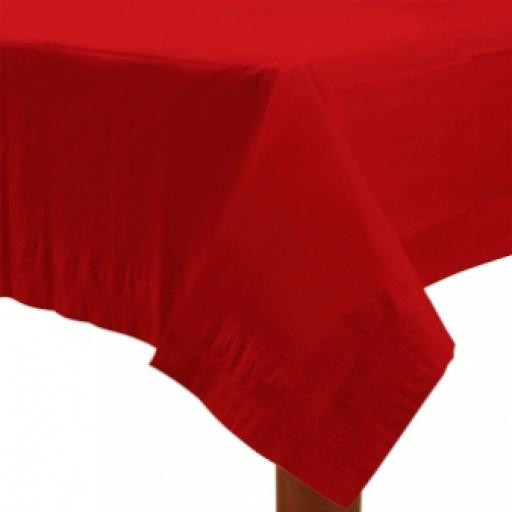 Apple Red Paper Tablecover 1.37m x 2.74m