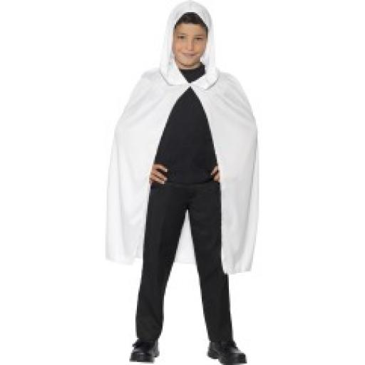 White Long Hooded Cape