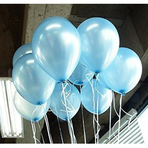 Met Light Blue 12inch Latex Balloon 50pcs