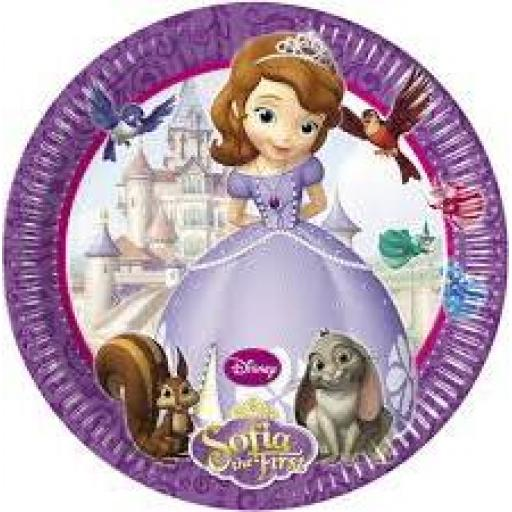 Sofia The First 8x23cm Paper Pates
