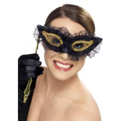 Black & Gold Party Mask