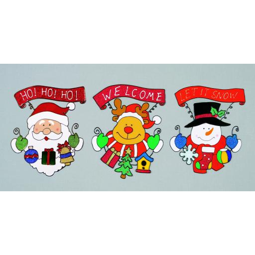 26cm Santa-Snowman-Reindeer Decoration
