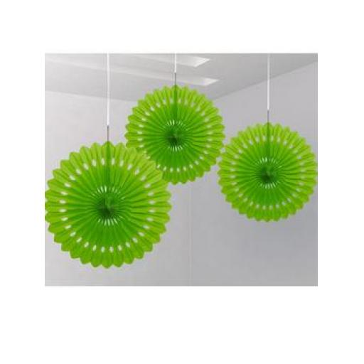 Decorative Fan 16 inch Green 1pc