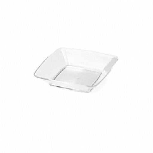 Mini Ware Clear Square Plates 12pcs