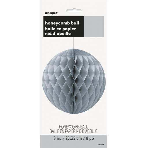Silver Honeycomb Ball Decoration - 8in