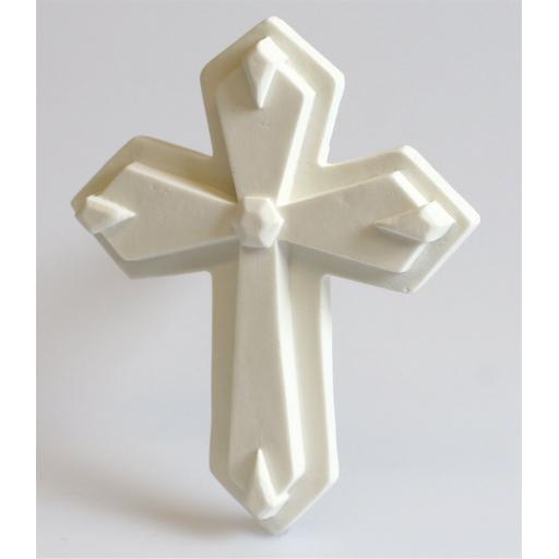 Sugardec Gum Paste Cross White 95x80mm