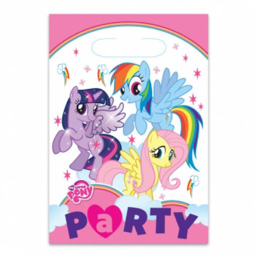 My Little Pony Plastic Party Bags 8pcs