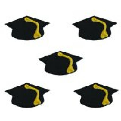 5 Mortarboard Sugarcraft Toppers