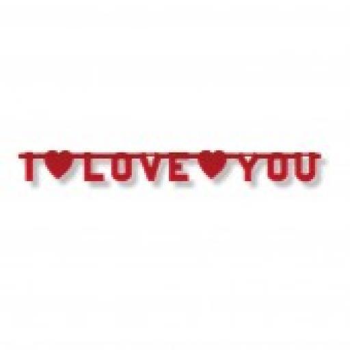 I LOVE YOU Letter Banner