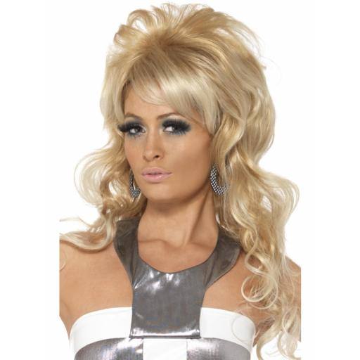 Beauty Queen Wig Long Blonde with Bouffant and Fri