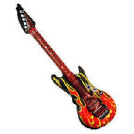 Inflatable Rock Flame Guitar 106cm Stag Hen Do
