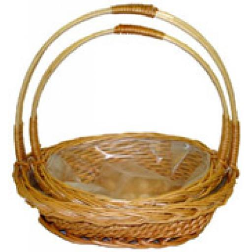 Oval Basket with Handle 1pc