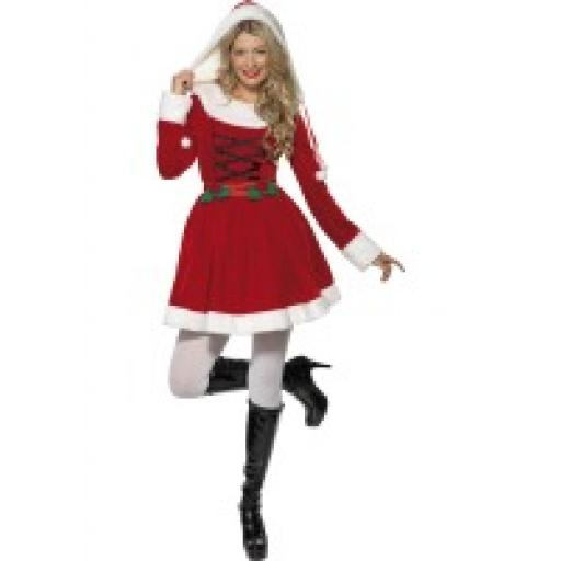 Miss Santa Dress with Hood