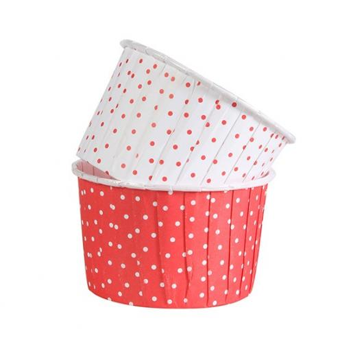 Polka Dot Red Baking Cups 24pcs