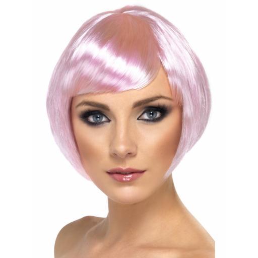 Babe Wig Pink Short Bob & Fringe