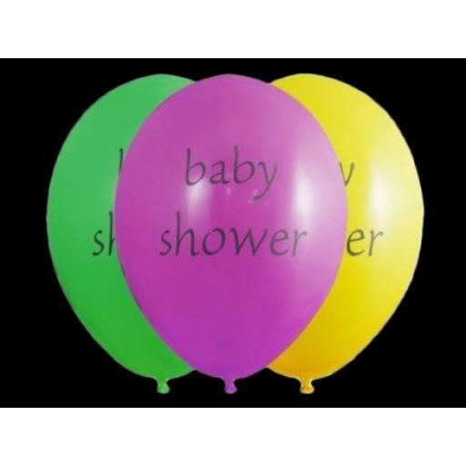 Baby Shower Latex Printed Hellium Balloons 6pcs