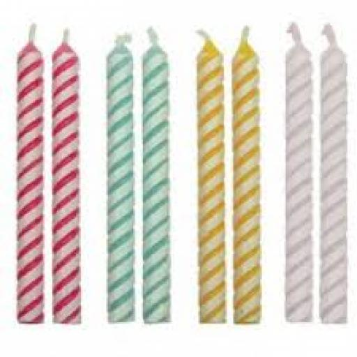 PME 24 Candles Assorted Medium Striped