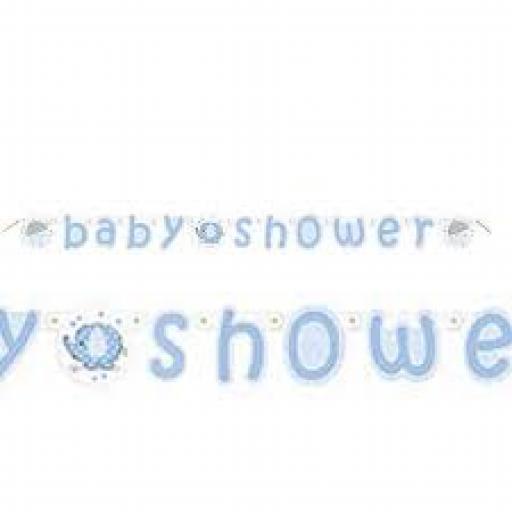Boy Baby Shower Letter Banner 5.24ft