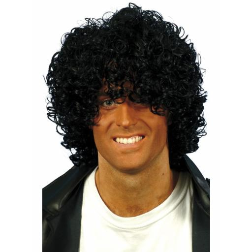 Afro Wet Look Wig Black