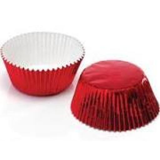 Metallic Red Standard Cupcake Holder 30pcs
