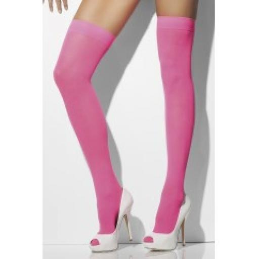 Fever Hosiery Opaque Hold-Ups Neon Pink