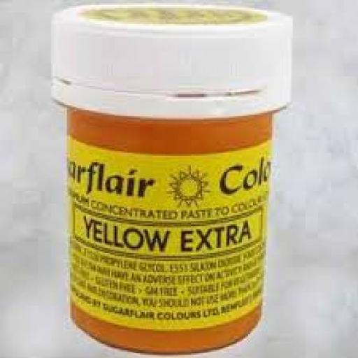 Sugarflair Yellow Extra Food Colour 42g