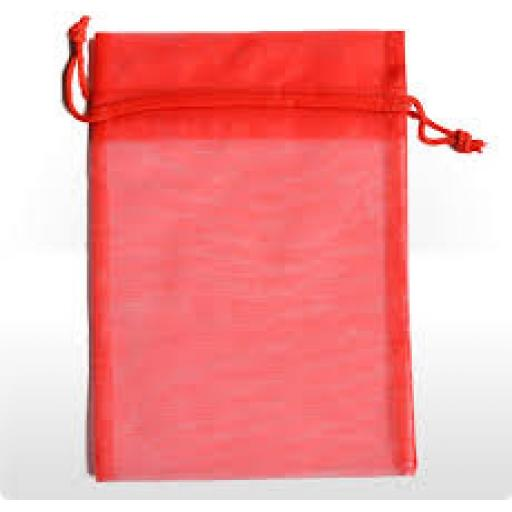 Organza Pouch 10 Red Small