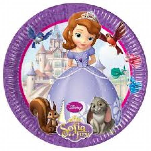 Sofia The First Paper Plates 8 inch 8pcs