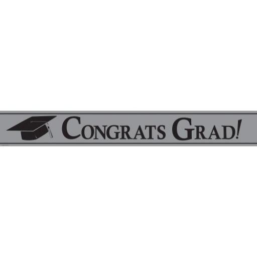 Congrats Grad Foil Banner 7M in length