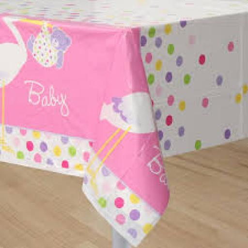 Baby Shower Plastic Tablecover 54x84 inch