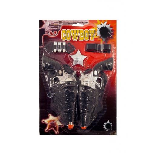 7pcs Cowboy Twin Holster & Guns Toy Play Set