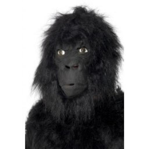 Gorilla Halloween Mask Large Overhead With Hair