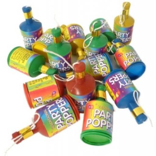 Party Poppers Pack of 50