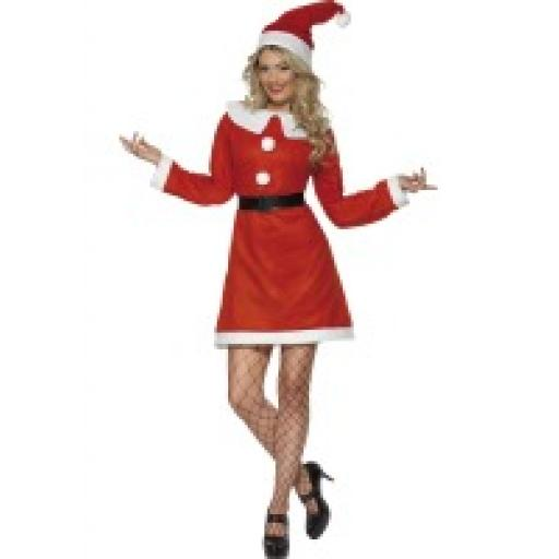 MISS SANTA COSTUME MED.