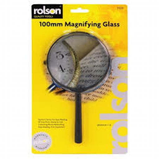 Rolson Magnifying Glass 100mm