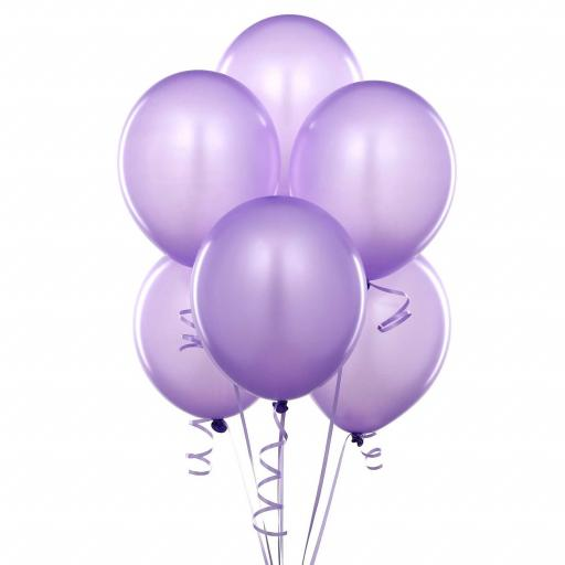 Met Lilac 12inch Latex Balloon 50pcs