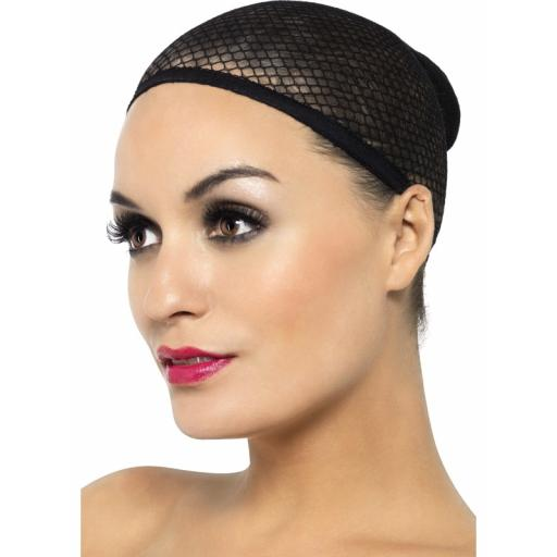 Fever Wig Cap Black Mesh