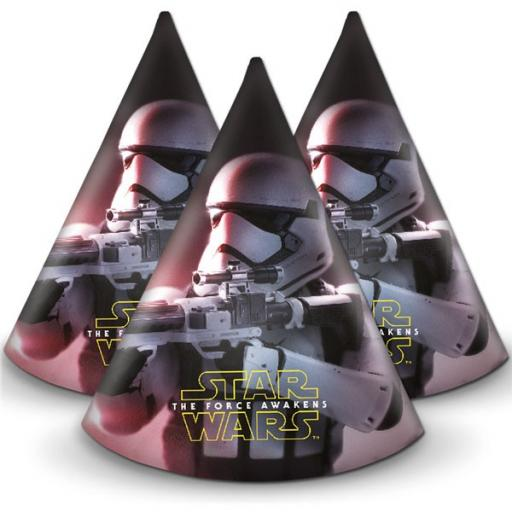 Star Wars Paper Party Hats 6ct