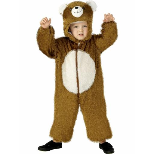 Bear Costume Jumpsuit with Hood