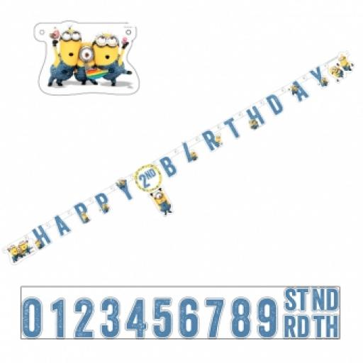 Minions Add an Age Letter Banner 1.80m