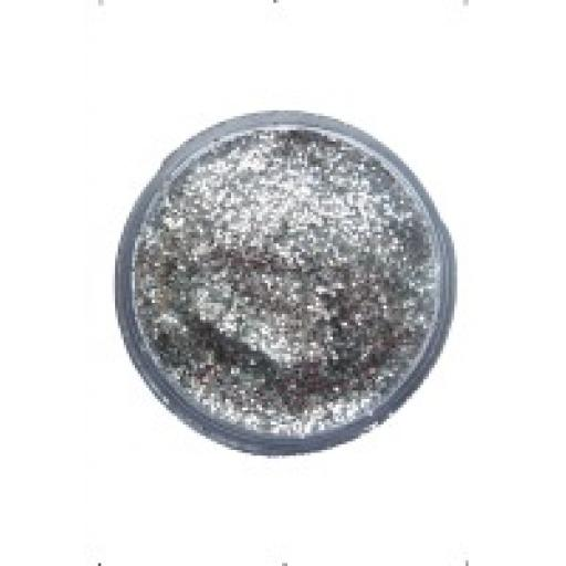 Glitter Dust Silver - face and body paint 12ml