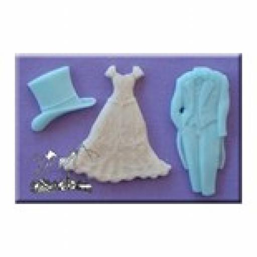 Mould Wedding Dress Tuxedo & Top Hat