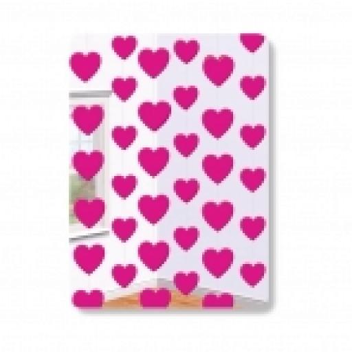 Pink heart Foil String Decoration - 2.1m