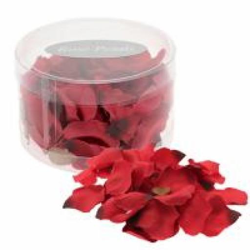 Red Rose Petals in PVC Tub (164 pcs)