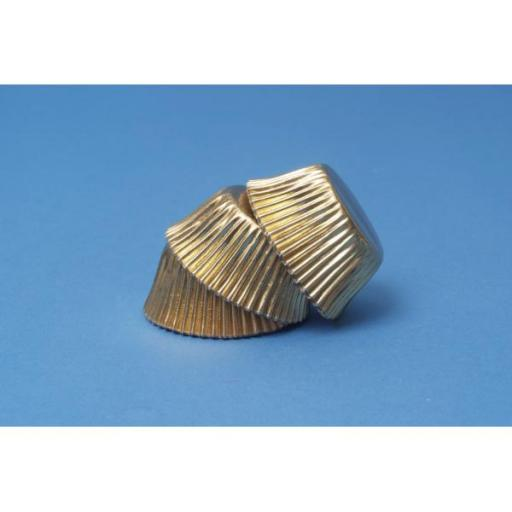 Gold Mini Baking Cups 45pcs