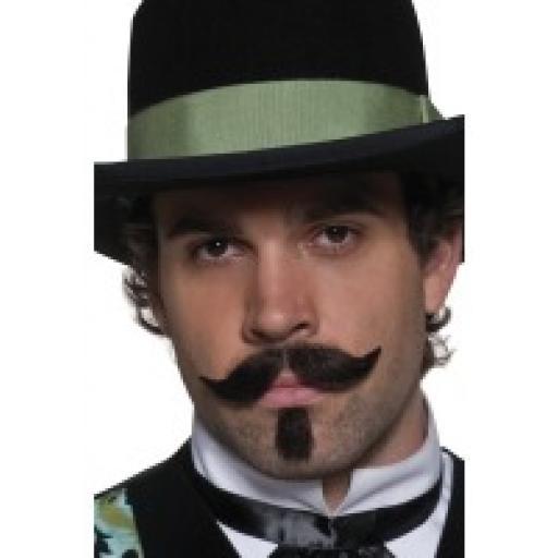 Gambler Moustache & Chin Hair