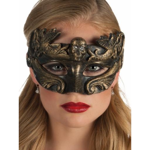 Mask Venice Cranio Gold & Black