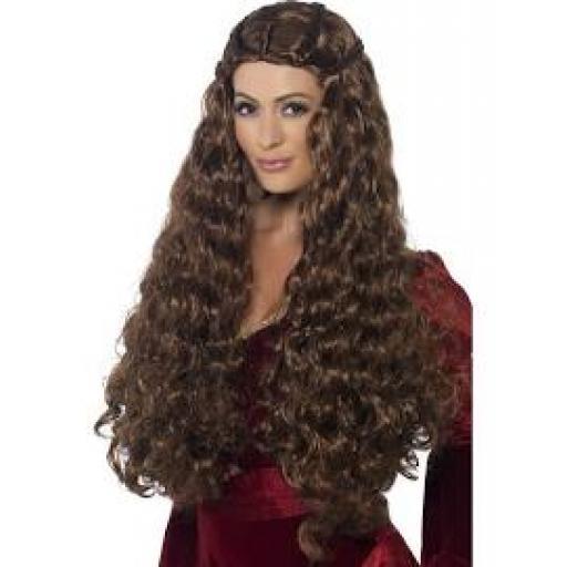 Medieval Princess Wig Brown