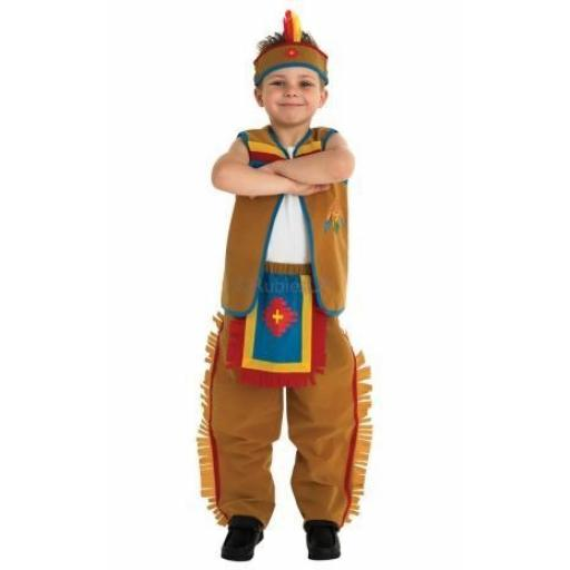 Childs American Indian Waistcoat Trousers & Headba